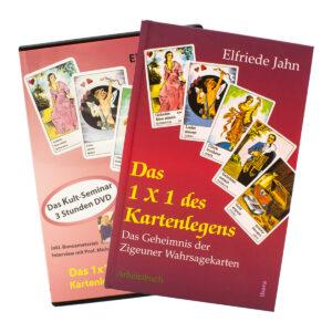 Elfriede Jahn Das 1x1 des Kartenlegens Buch und DVD Set Cover