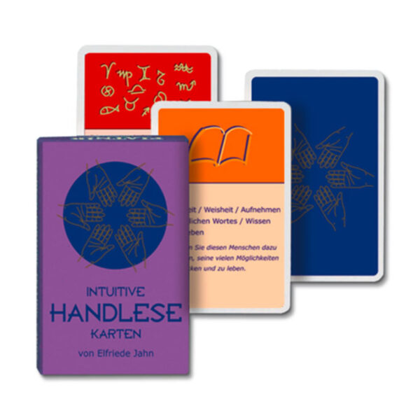 Elfriede Jahn Intuitives Handlesen Karten Cover